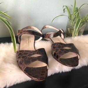 Salvatore Ferragamo Boutique Brown Tortoise Sandal